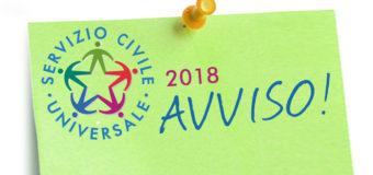 Disponibili n.6 posti per Volontari del Servizio Civile Universale 2018