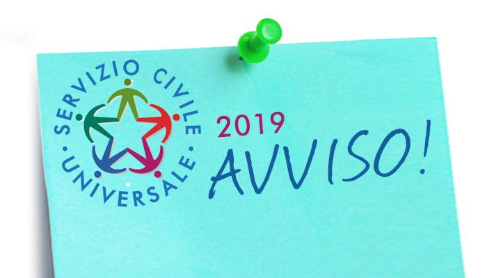 Servizio Civile Universale 2019- Convocazione dei volontari selezionati. Si Parte il 15 gennaio 2020.