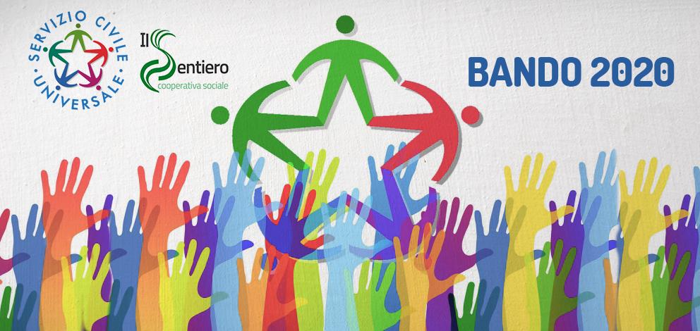 Bando 2020 Servizio Civile: La Cooperativa Il Sentiero seleziona n. 682 operatori volontari